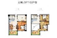 禹州永丰新天地户型图 公寓户型图 LOFT G2